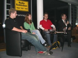 Moritz, Meike and Benedikt are recognized as people of the year 2004 by Radio Euskirchen