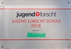 Sign for the Jugend forscht School - National Contest