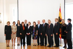 Recipients of a Federal Cross of Merit with German President Joachim Gauck - Bellevue Palace
